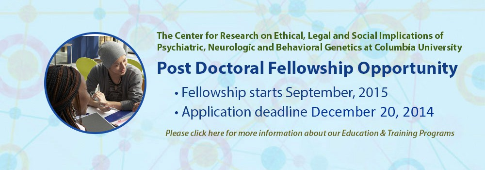 Post Doctoral Fellowship Opportunity